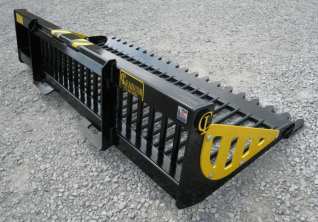 Skid steer EZ Rock Bucket CL Fabrication