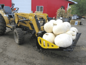 Utility tractor EZ Rock Bucket with Pumpkins CL Fabrication