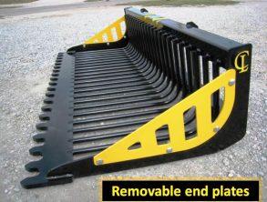 EZ Rock Bucket Removable end plates