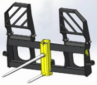 EZ Pallet Fork with Bale Spike