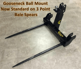 EZ Bale Spear - 3 Point Spear with Gooseneck Ball Mount