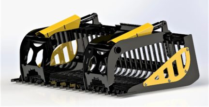 CL Fabrication rock bucket for skid steer 81 inch